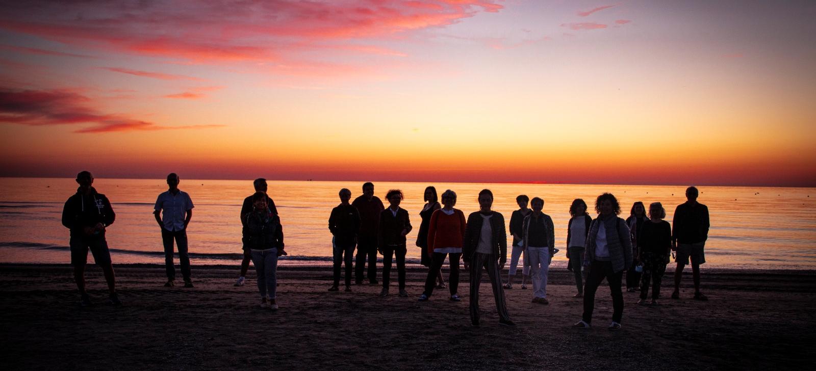 Sunrise on the beach (before a concert)